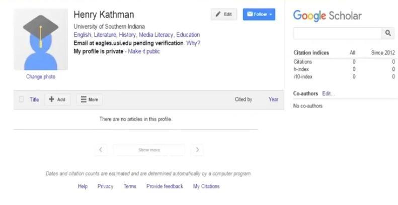 حساب گوگل اسکالر