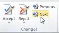ویرایشهای انجام شده بر روی فایل ورد را از ابتدا چک کنیم