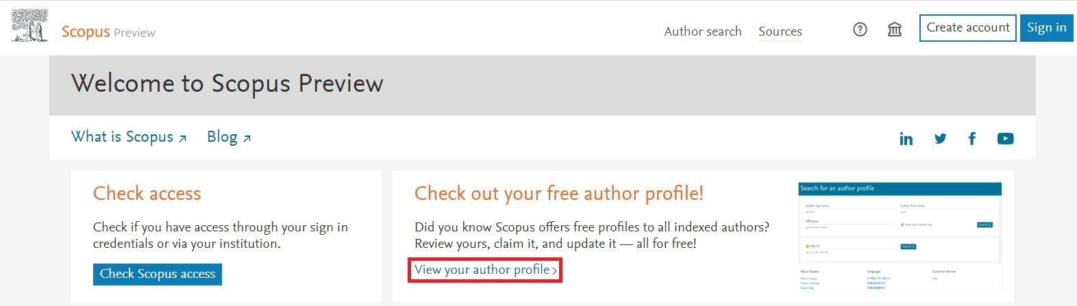 گزینه View your author profile