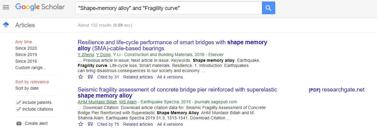 نتایج جستجو در گوگل اسکولرا